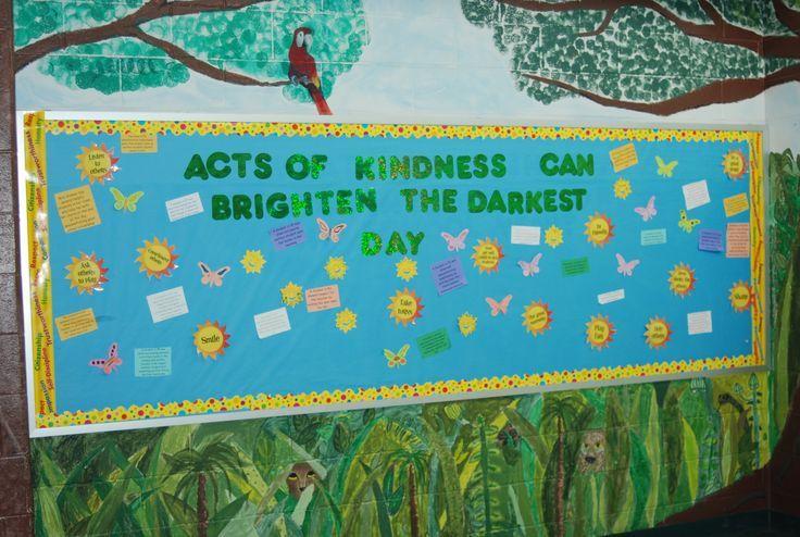 spring kindness bulletin board ideas | bulletin boards