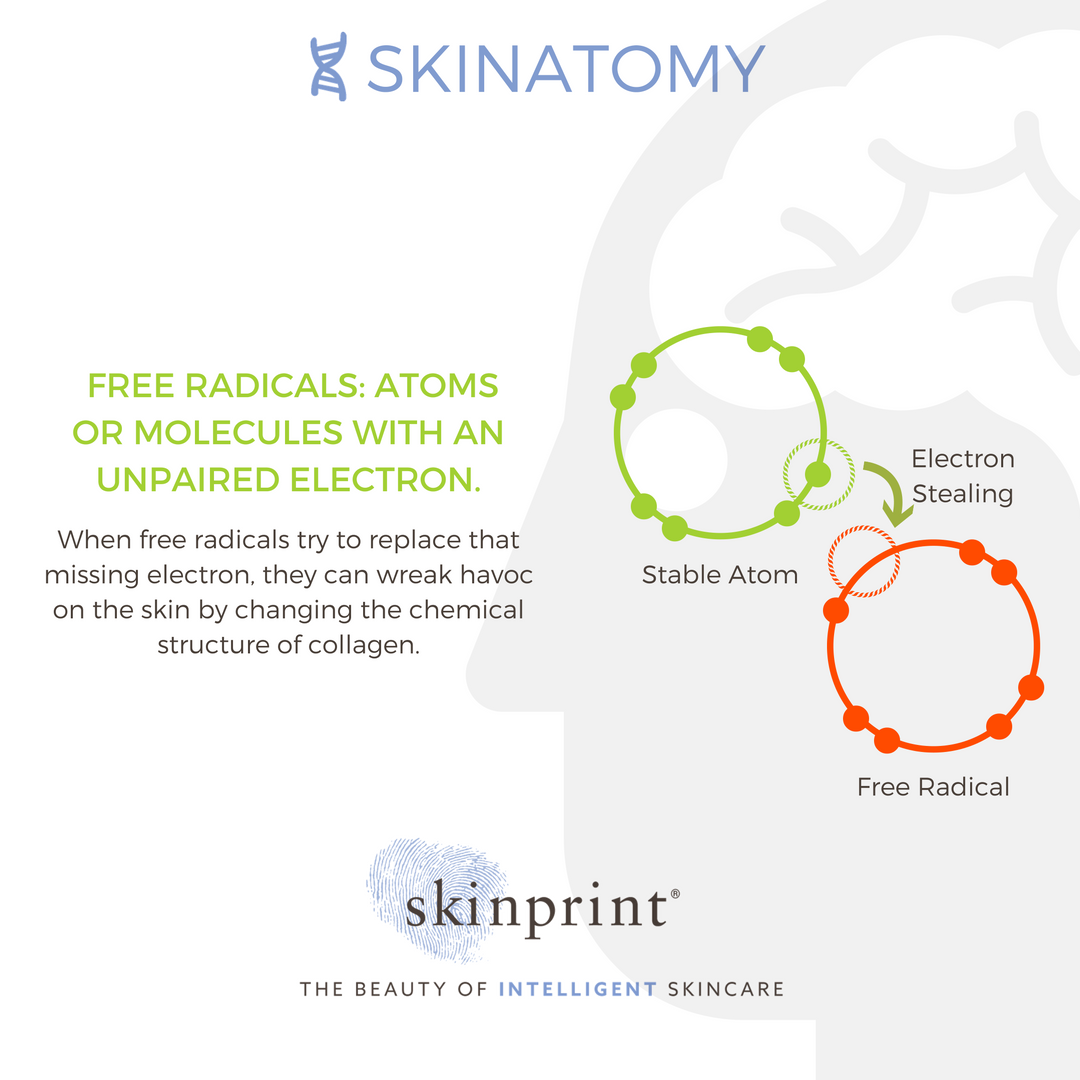 Free Radicals Are A Really Cool Representation Of The Scientific Approach To Better Skin Skinprintscience Naturallyi Skincare Quotes Skin Science Skin Care