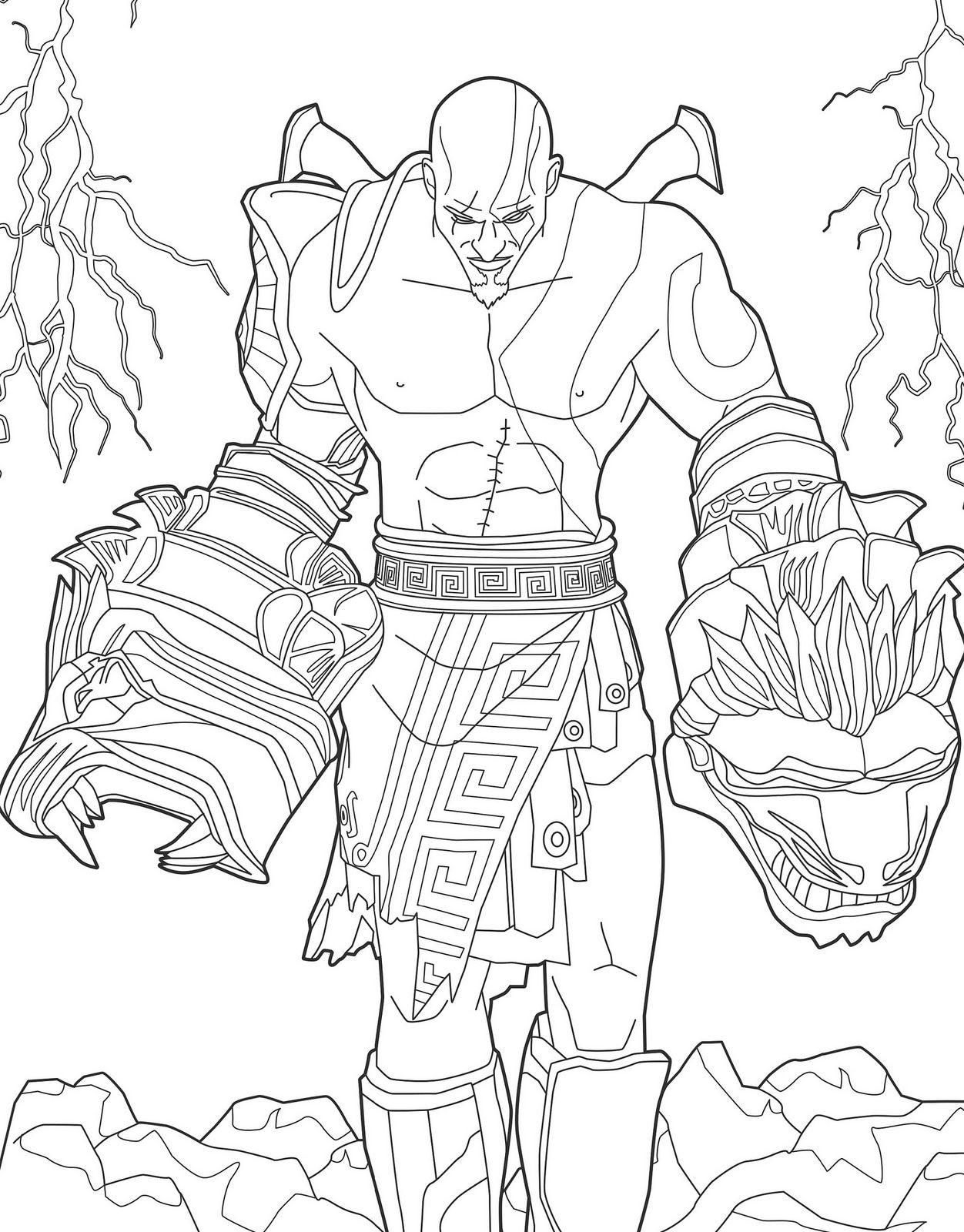 kratos from god of war artfortheplayers