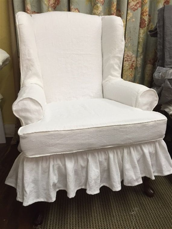 Traditional Style Slipcover For Your Existing Wing Back