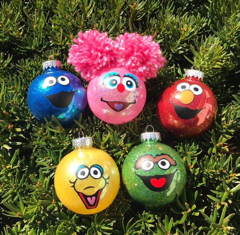Set of Sesame street ornament /Sesame place/ personalized ...