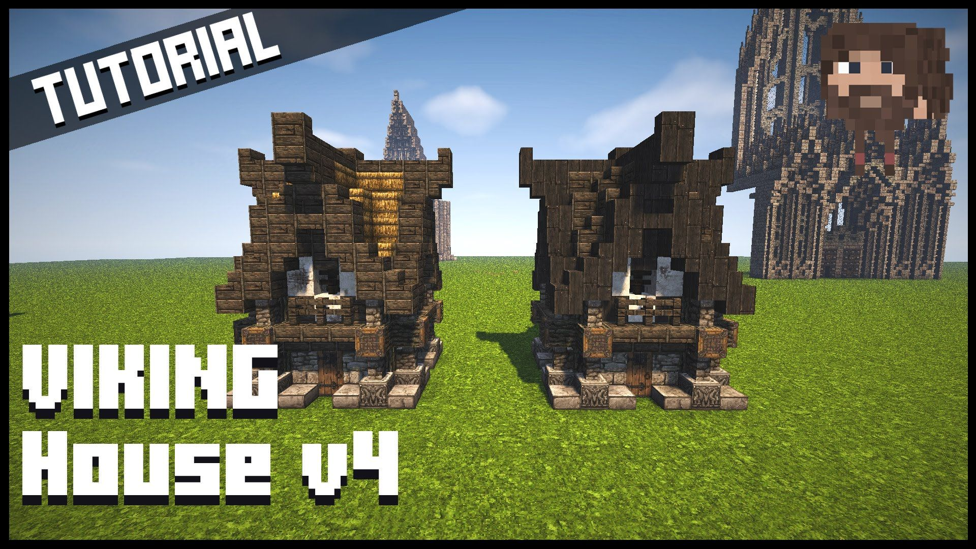 Minecraft tutorial vikingehus viking house v4