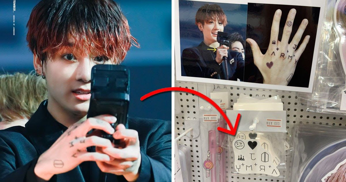 Recently A Bts Fan Discovered Familiar Temporary Tattoos Being Sold In Japan Replicas Of Bts Jungkook S Own Hand Tattoos In 2020 Bts Jungkook Jungkook Bts Fans