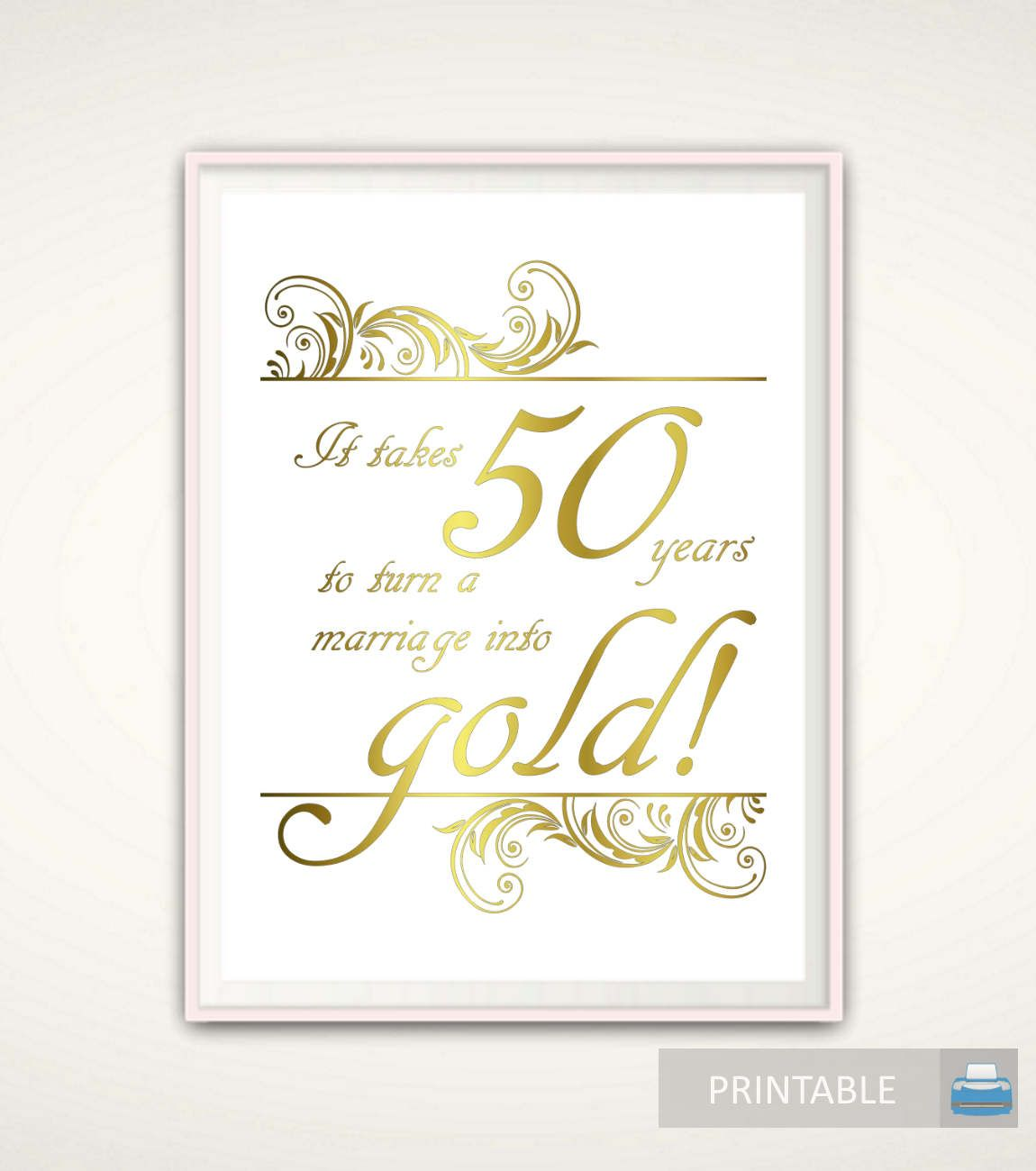50th Anniversary Gifts for Parents 50th Anniversary Print
