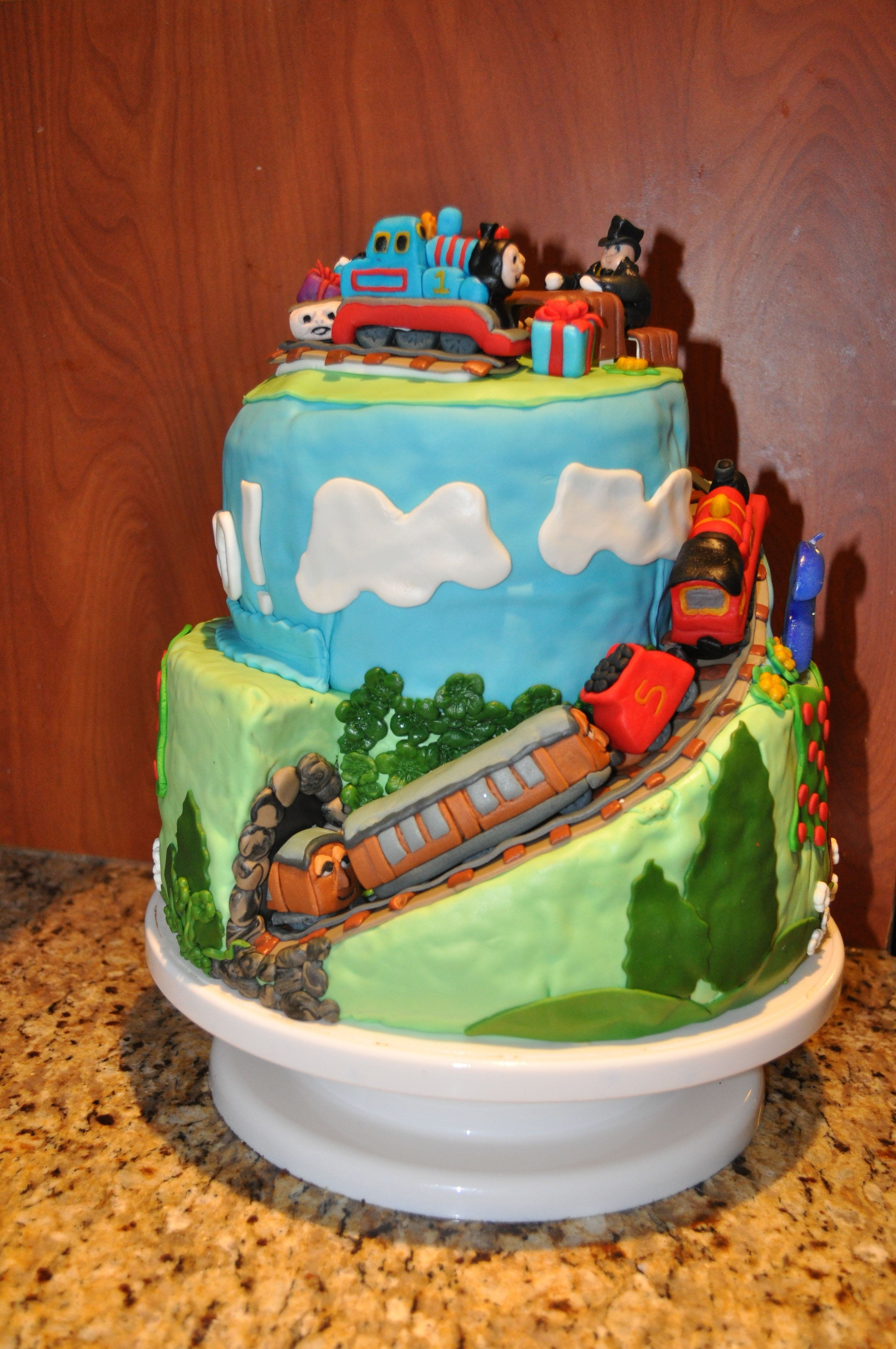 Thomas The Train Cake For 2nd B Day