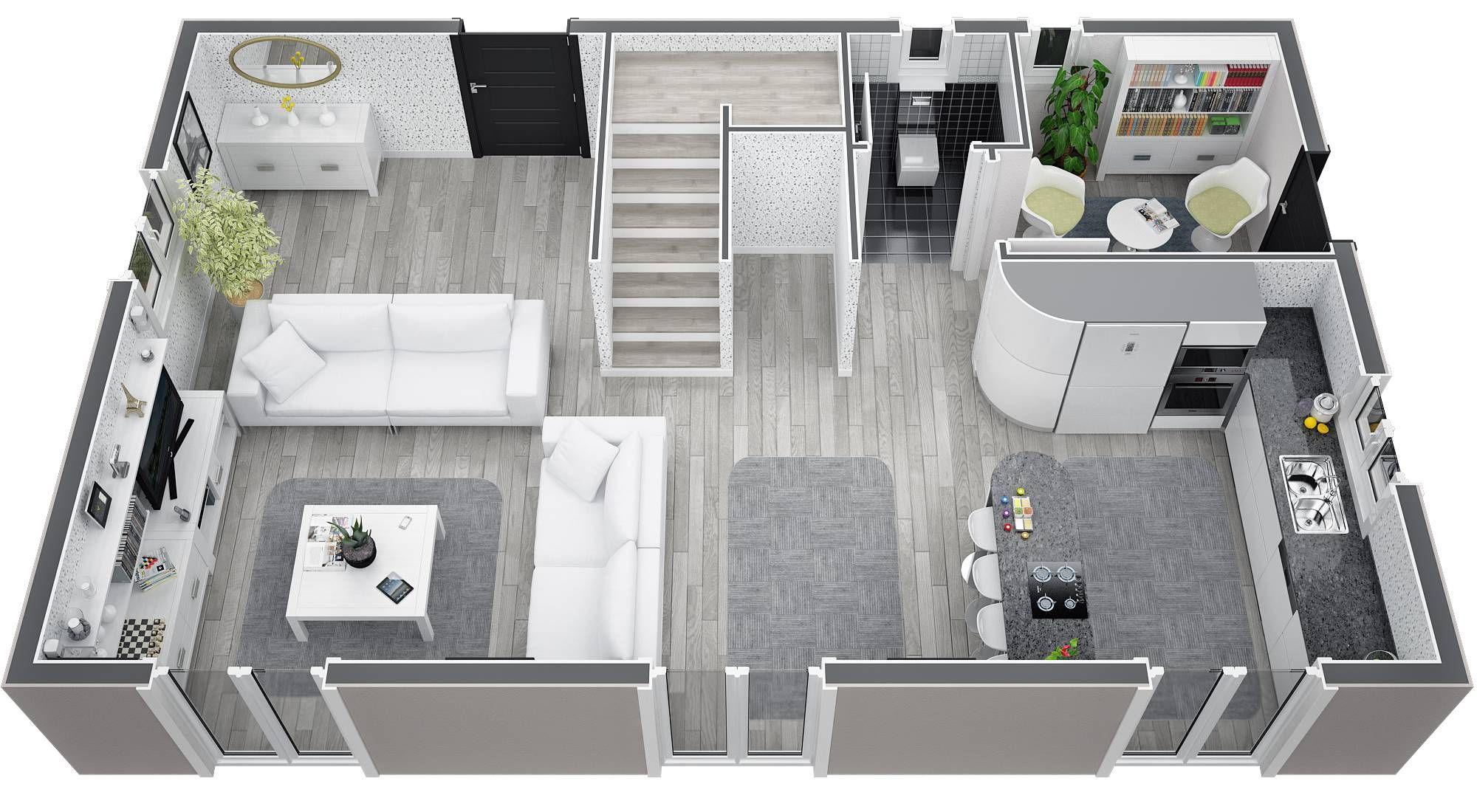 Modeles 2000 1100 for Modele d architecture de maison