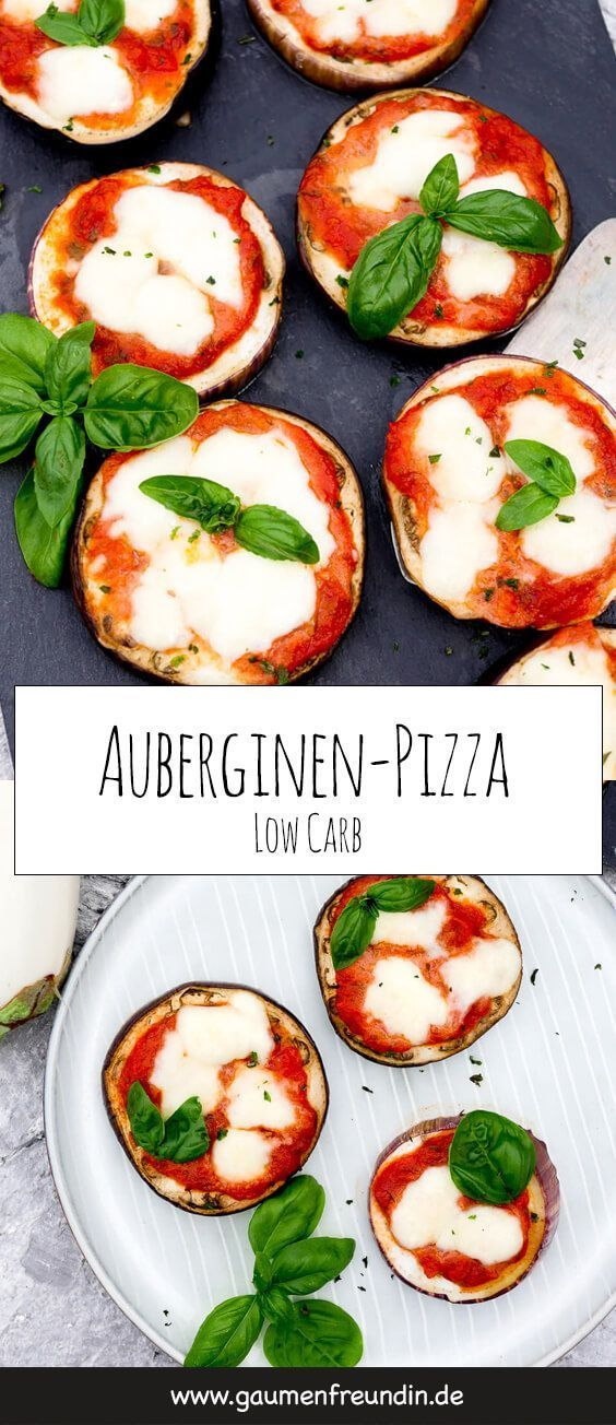 Low Carb Auberginen-Pizza – ein einfaches Low Carb Grundrezept