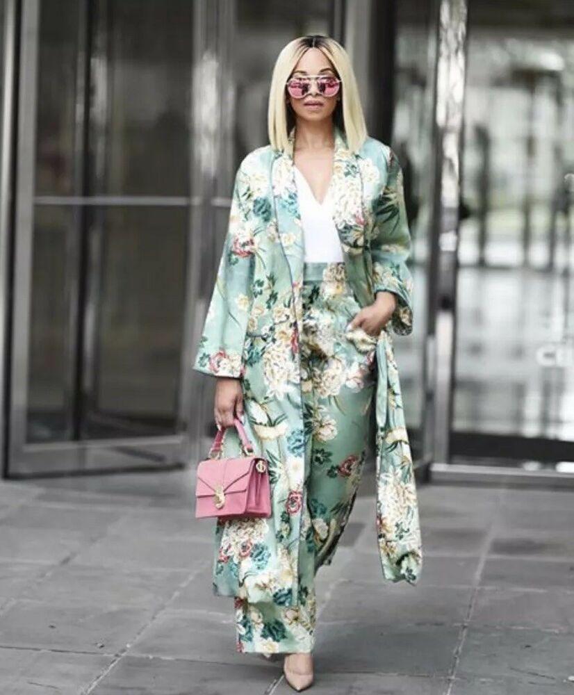 Ebay Ad Zara Kimono Green Oriental Floral Geisha