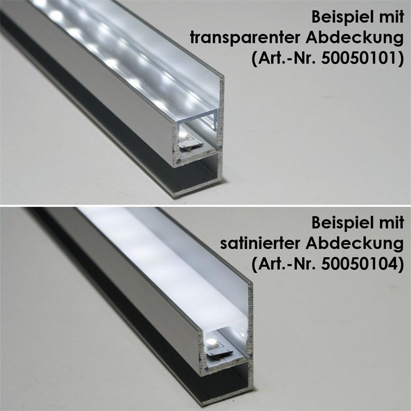 1m aluminium profil blende f led stripes eloxiert. Black Bedroom Furniture Sets. Home Design Ideas