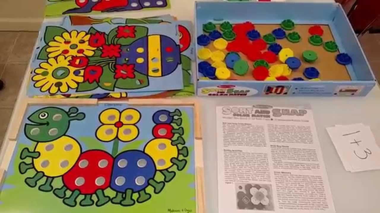Sort & Snap Color Match- Melissa & Doug Educational Puzzle ...