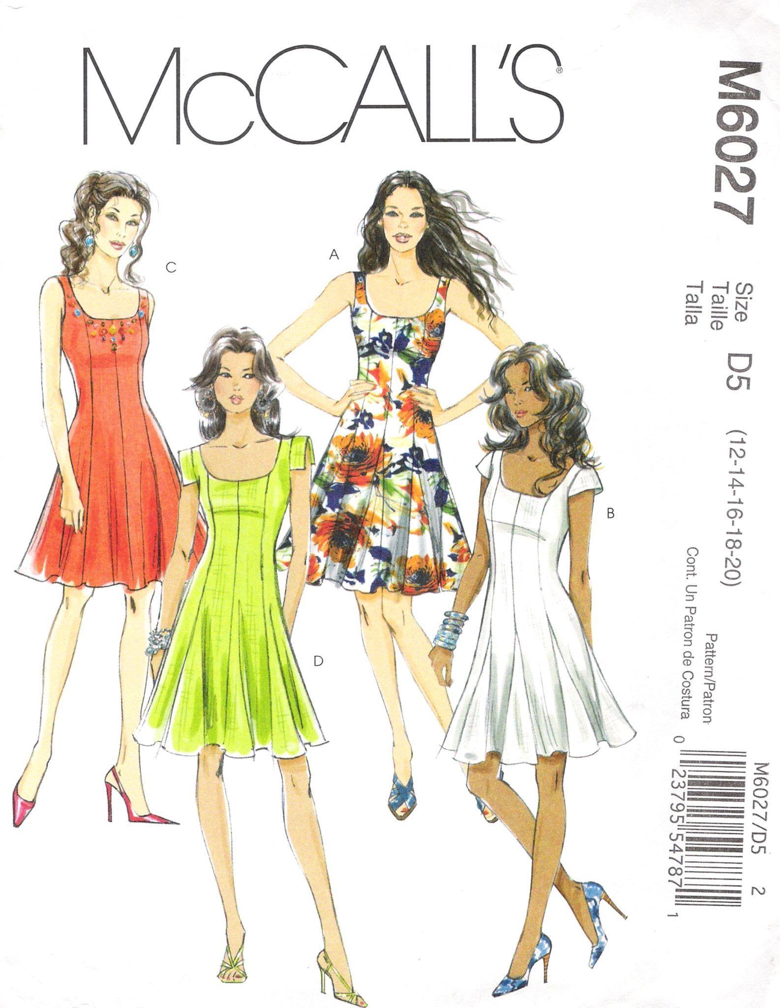 McCall\'s 6027 Misses\'/Miss Petite Dress