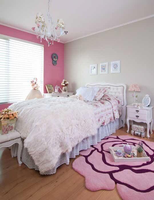 Alfombra diseño rosa #teenagegirlbedroomdiy | Quarto dos ...