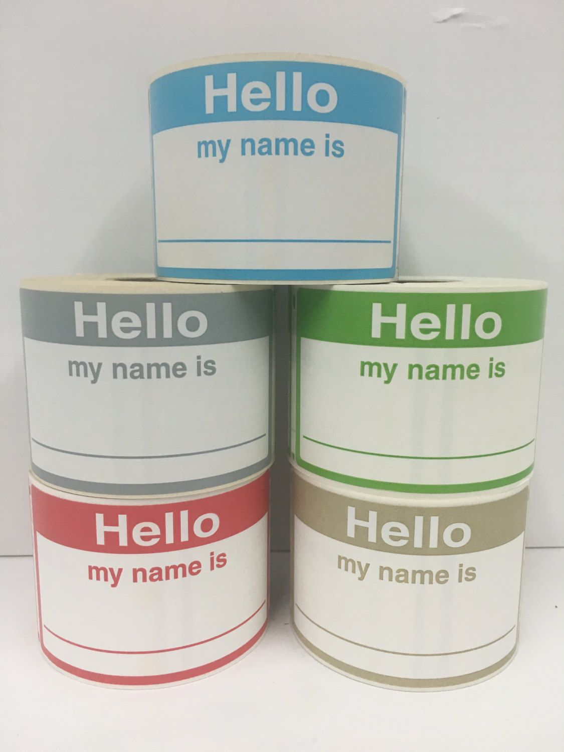 100 Hello My Name Is Stickers NAME TAGS Compatible with