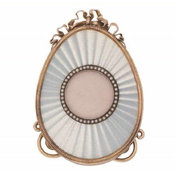 Preowned Faberge White Enamel Egg Shaped Miniature Frame ($194,377 ...