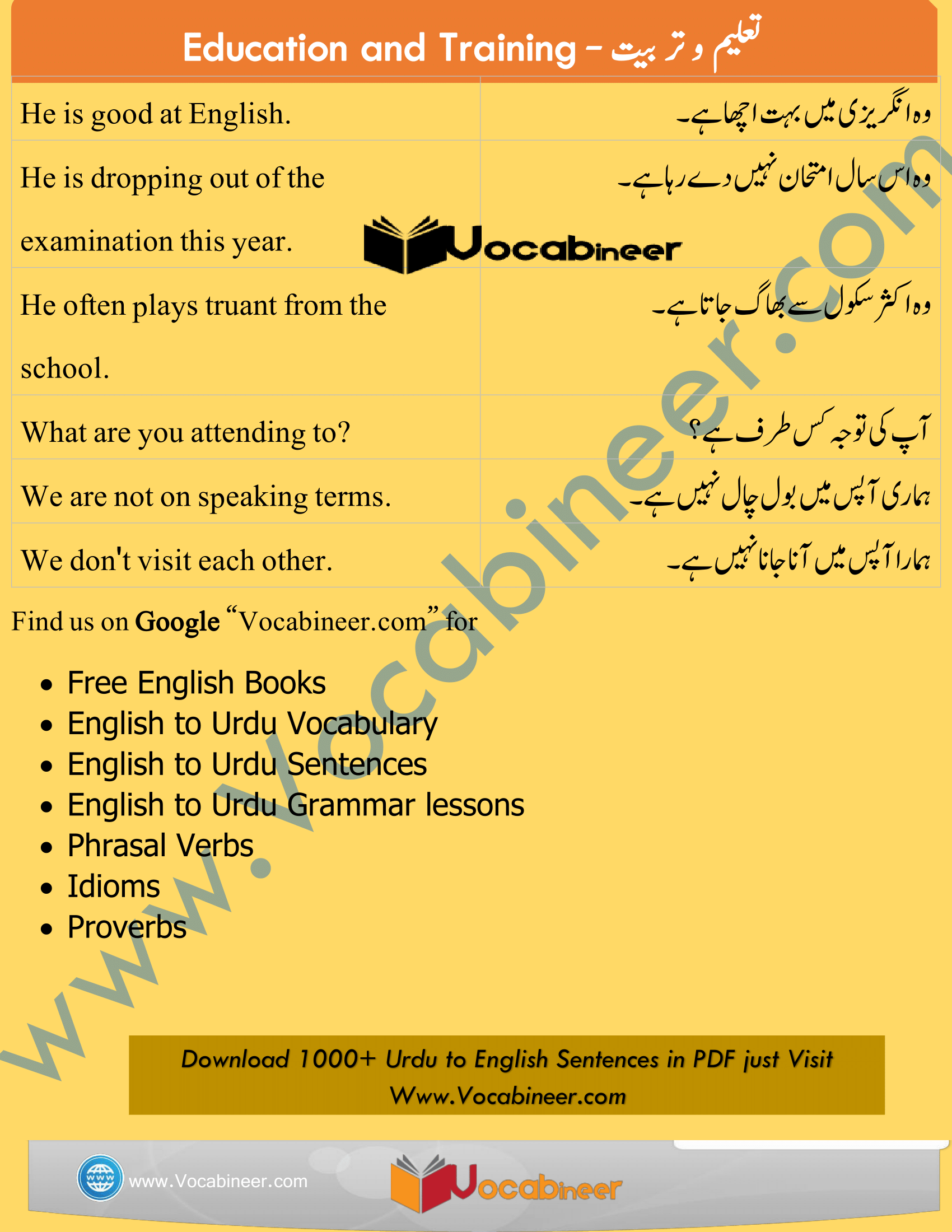 English Sentences With Urdu Meanings Picture English