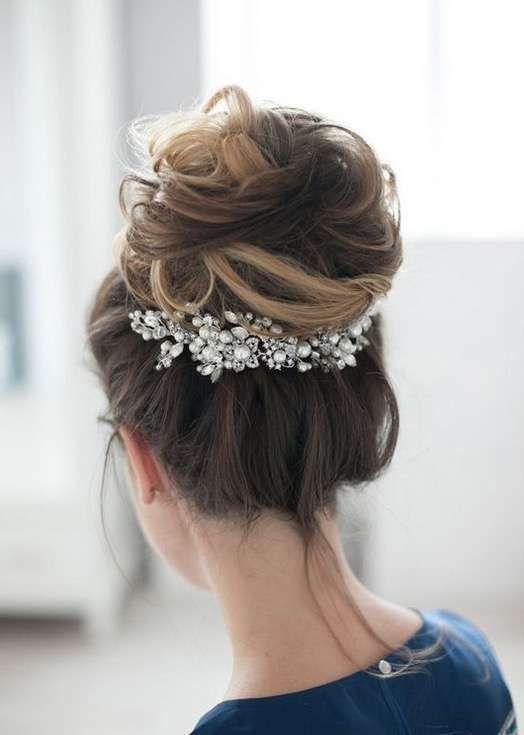 Peinados altos para la novia Fotos de los más elegantes - Peinado