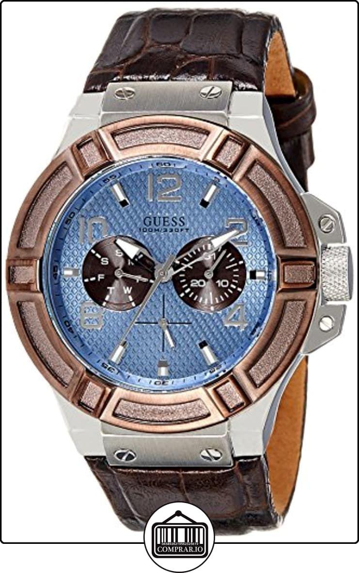 PielPara Guess W0040g10 Con HombreColor De Correa Azul Reloj Ygvmfb6yI7