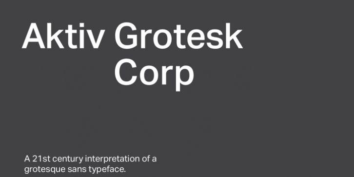 Aktiv Grotesk Corp font download | Fonts | Fonts