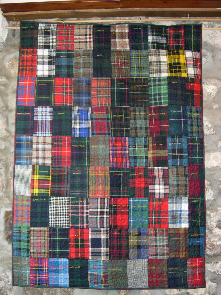 Tartan Samples Quilt | checks, plaids , stripes | Pinterest ... : tartan patchwork quilt - Adamdwight.com