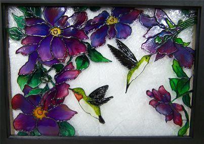 Atelier de julie patron vitrail vitrail faux vitrail for Faux vitrail sur miroir