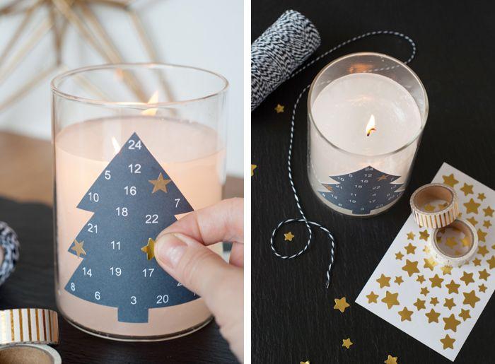 Die Last-Minute Adventskalender Kerze
