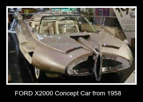 Ford x2000 concept car,( front view) from 1958...(this concept car was shown at a car show)