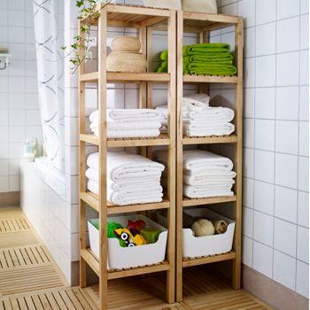 Salle de bain rangement recherche google id es d co - Rangement serviette salle de bain ...