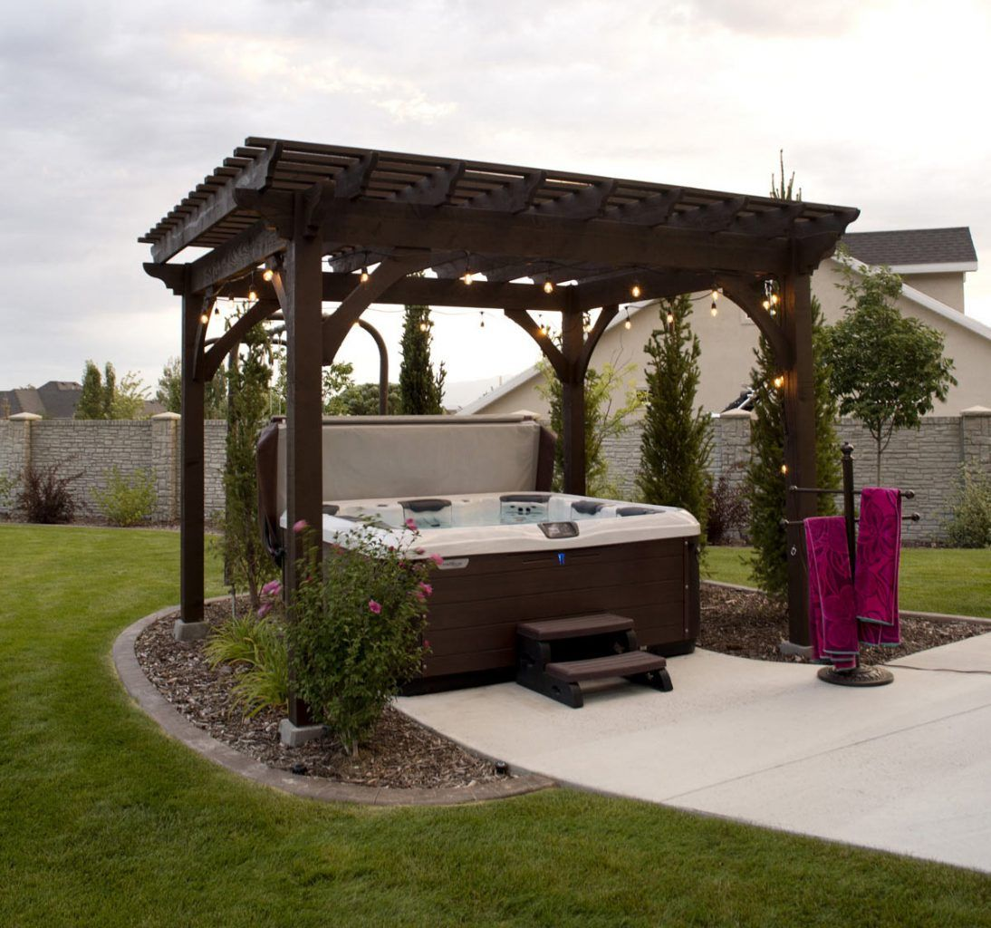 Heavenly Haven DIY Hot Tub Pergola, Hammock Trellis Hot