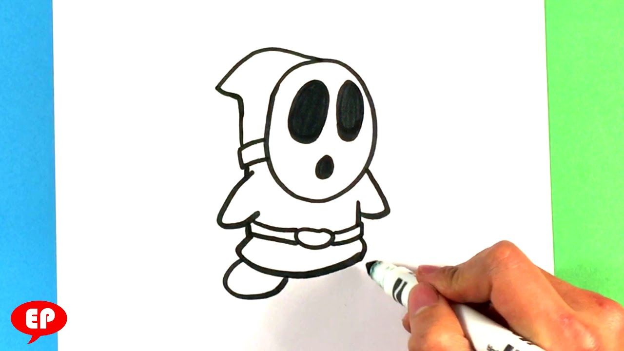 How to Draw Shy Guy - Super Mario Bros - Nintendo - Easy ...