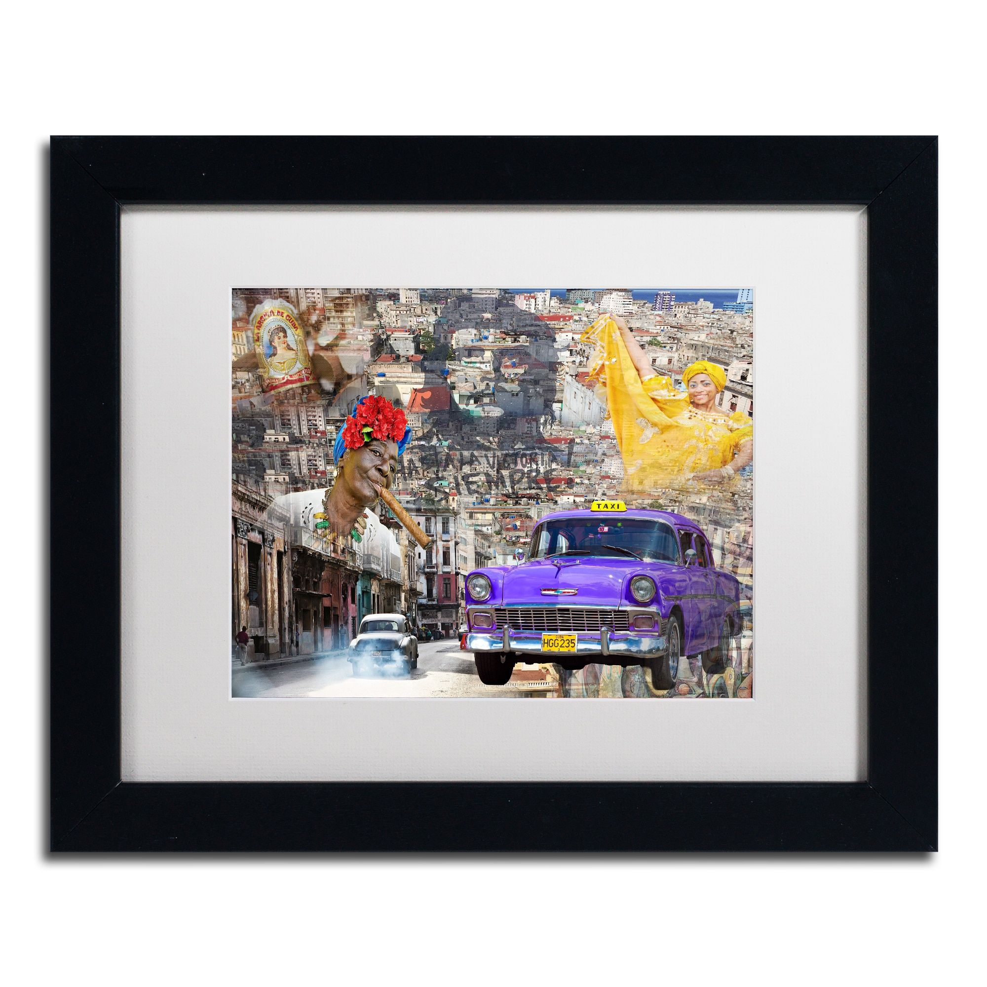 Alberto Lopez La Aroma De Cuba Matted Framed Art Products