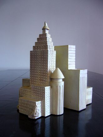 """ Skyscraper ""のブックエンドです。 ニューヨークを彷彿とさせるビル群。"
