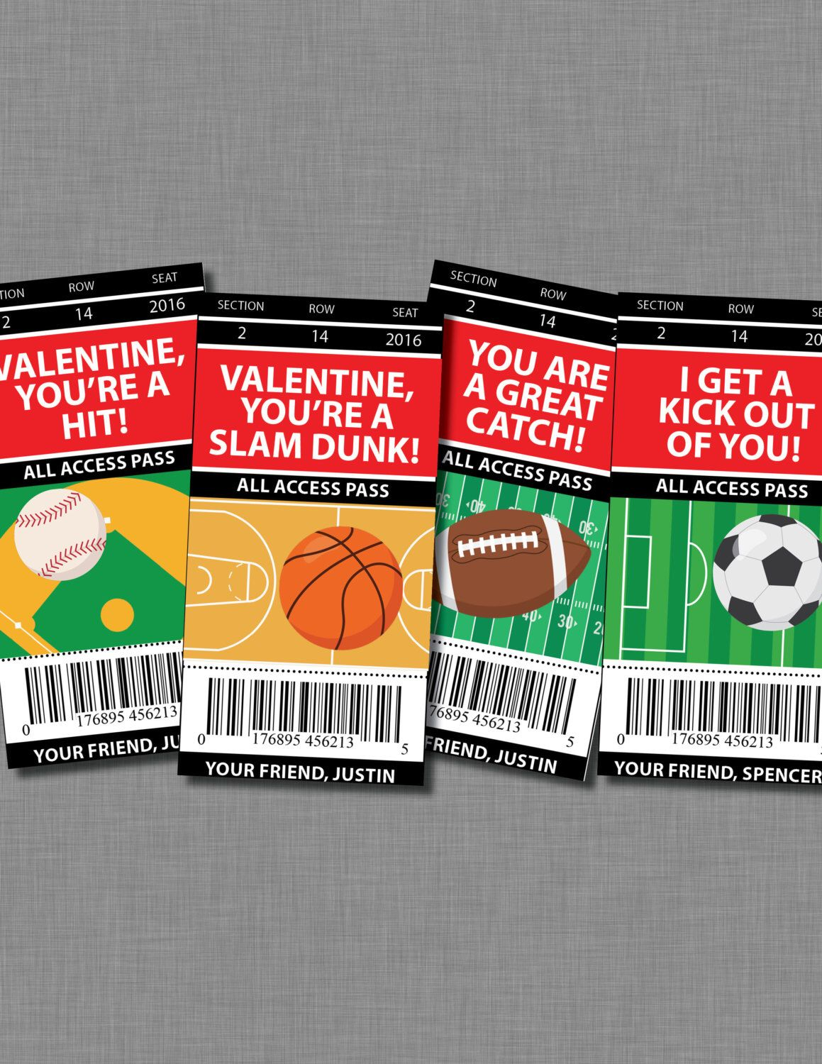 sports valentine cards football printable customized classroom pdf by coralballoon on etsy https - Football Valentine Cards