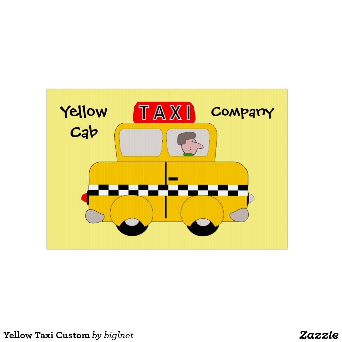 Yellow Taxi Custom Sign | Zazzle com | Cars And Transport
