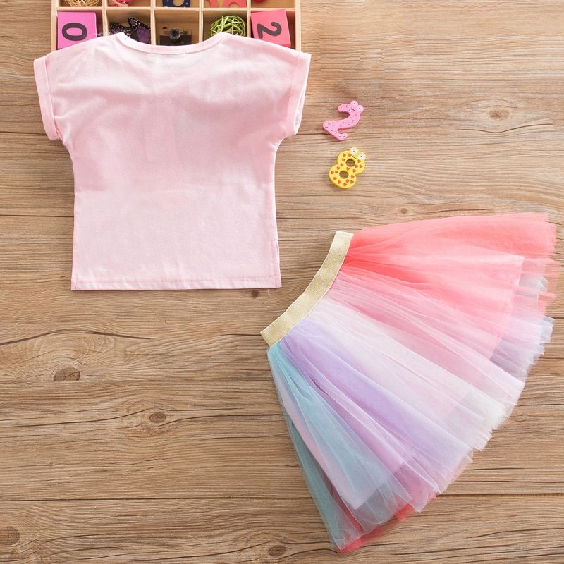 Princess Girl Unicorn Christmas Party Dress Tutu Tulle Costume For Kids Clothes Children Long Sleeve Clothing For Little Baby 2T #babygirlpartydresses