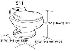 Dometic 511+ Sealand Traveler Toilet - White | laurel & sam
