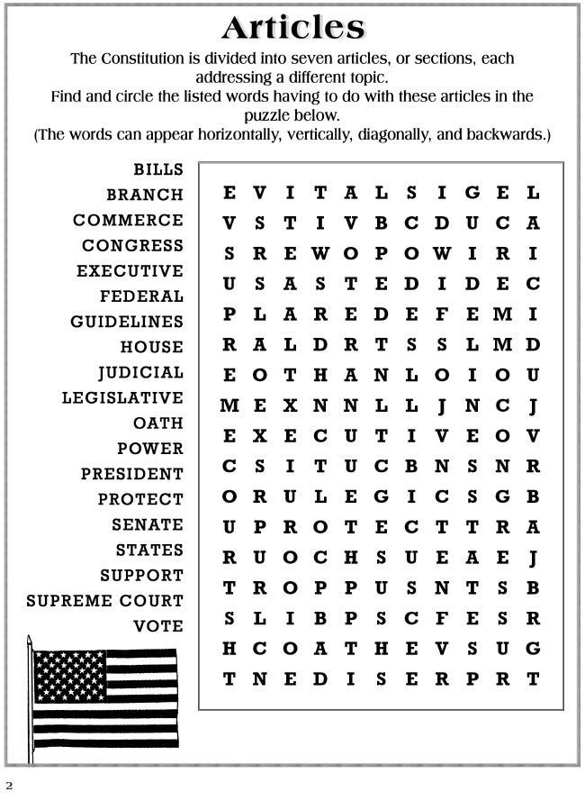 Usa Constitution Activity Book 7 Sample Pages With Answers