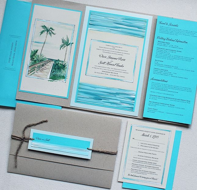 17 Best images about Tropical Wedding Invitations – Modern Beach Wedding Invitations