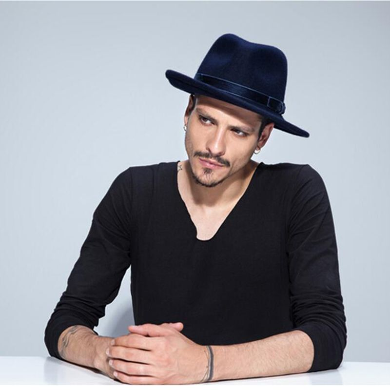 5e3676e5 Cheap fedora hat, Buy Quality fedora hat brands directly from China top hat  Suppliers: VTG Brand Wool Men's Black Dad Fedora Hat For Gentleman Woolen  Wide ...