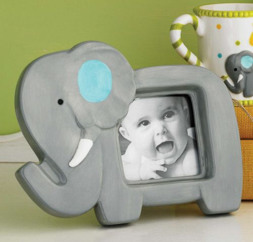 This painted ceramic elephant picture frame from Mud Pie is perfect for a jungle-themed nursery and makes a cute baby shower gift. It's also perfect for Alabama fans (Roll Tide!).
