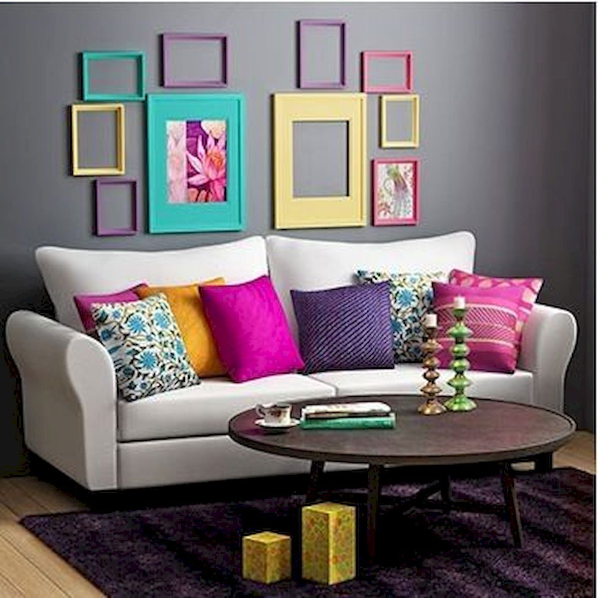 80+ Stunning Colorful Living Room Decor Ideas And Remodel for Summer Project images
