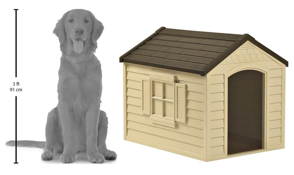 Dog House Suncast Dh250 Pet Outdoor Large Shelter Durable Weather