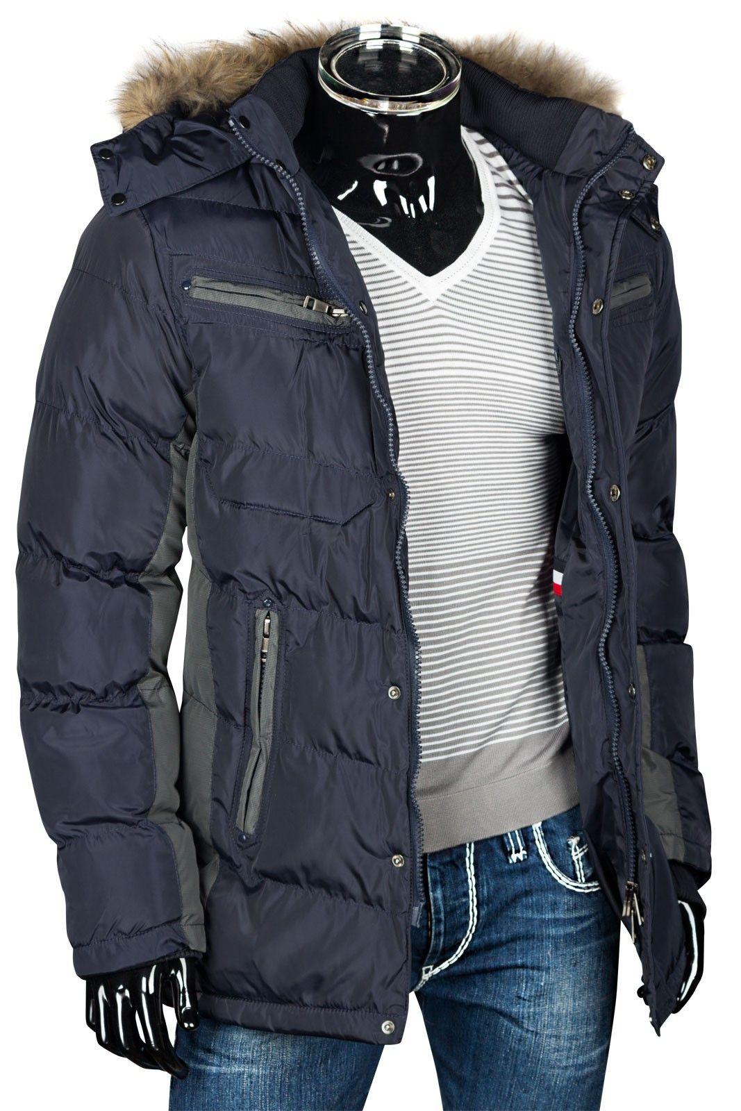 Herren Winterjacke Steppjacke Mit Fellkapuze Daunen Look Jacken Herren Mode Deinefashion Online Shop Die Neuesten Modetrends Trends 2015 Bekleidung Con Imagenes