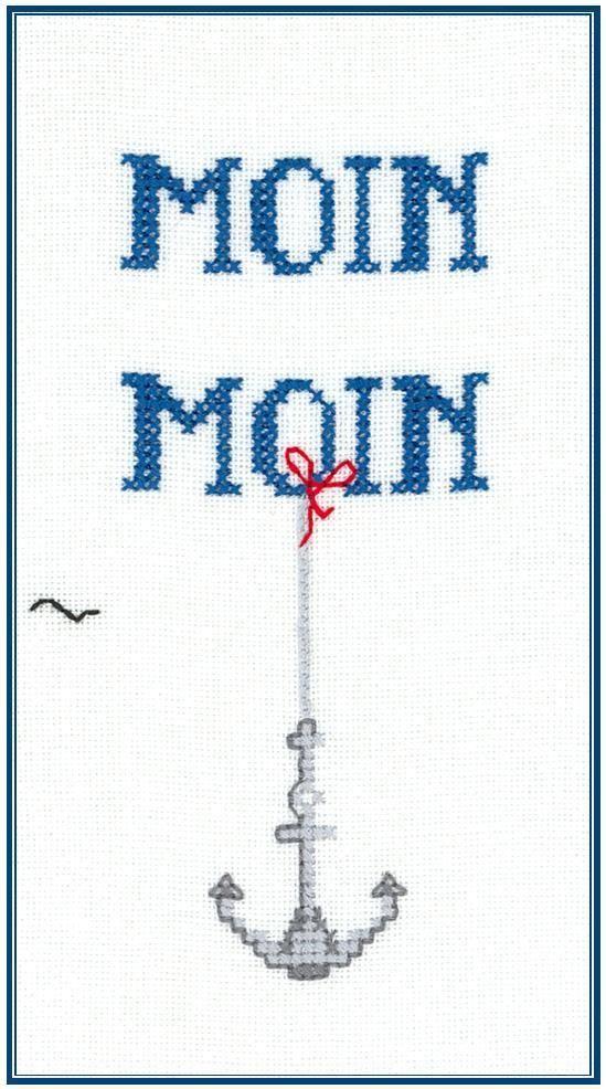Moin Moin Kreuzstich Stickvorlagen Sticken Kreuzstich Kreuzstich