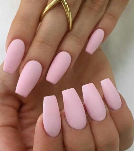 Soft Pink Nails Love Matte Baby Acrylic