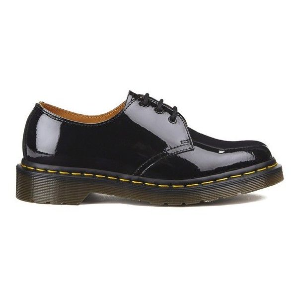 Dr Martens Women S Core 1461 3 Eye Patent Lamper Shoes Black Patent Leather Shoes Black Patent Shoes Black Patent Leather Flats