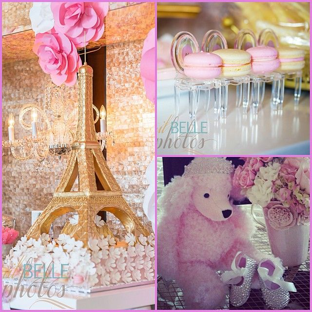 Paris Baby Shower Cake: Adrienne Bosh Baby Shower