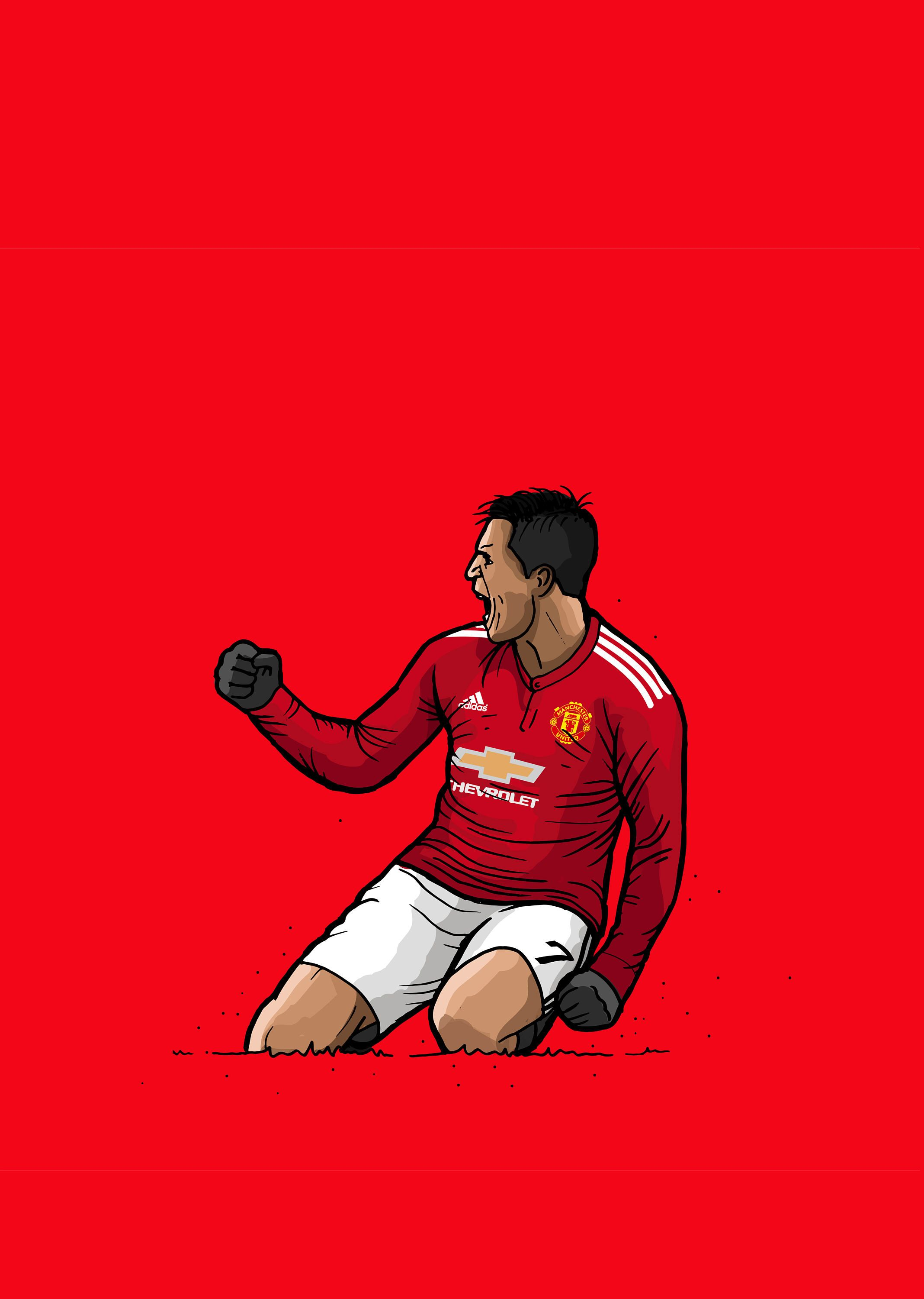 Manchester United Wallpaper Manchester United Cartoon Wallpaper