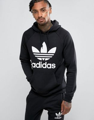 detailed images detailing delicate colors adidas Originals Trefoil Hoodie In Black BR4852 in 2019 ...