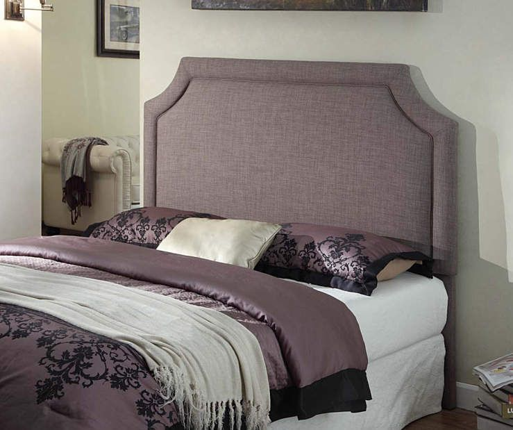 Best Brown Arched Upholstered Headboard At Big Lots Queen 199 400 x 300