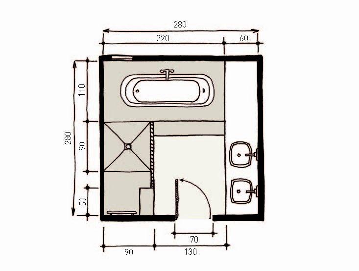 Salle De Bains Zen En Teck Et Galets De 7m2 Le Plan Floor Plans Pinterest Diagram